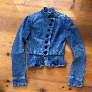 Marc Jacobs fitted peplum blue Denim Jacket USA